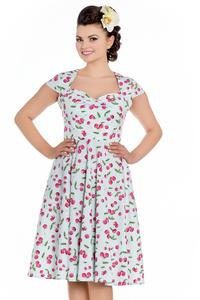 April Cherries on Mint 50's Dress by Hell Bunny - M ONLY