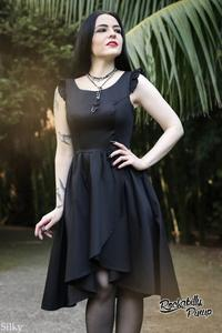 Midnight Black Party Dress by H&R London