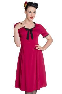 Alveira Raspberry Red Dress by Hell Bunny
