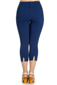 Tina Navy Blue Capri Trousers - 4X ONLY