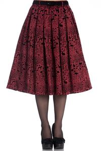 Sherwood Red 50's Rockabilly Skirt - 3X ONLY