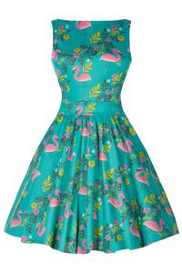 Summer Flamingo Tea Dress by Lady Vintage