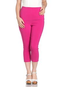 Tina Hot Pink Capri Trousers by Hell Bunny - PLUS SIZES ONLY