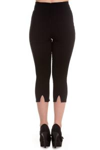 Tina Black Capri Trousers by Hell Bunny - XS 4X