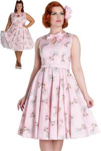 Deery Me Pink 50's Dress by Hell Bunny